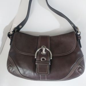 Coach Hampton Soho Brown Leather Hobo Shoulder Bag
